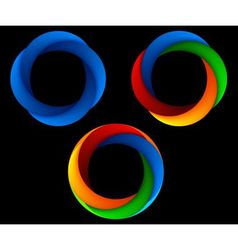 Logo shape set 3d style vector image