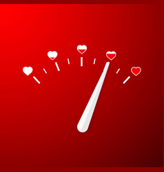 love meter valentines day card element in simple vector image
