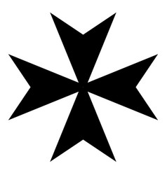 Maltese cross icon black color flat style simple vector