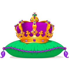 Mardi Gras crown vector image