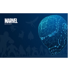 Marvel polygonal banner design vector