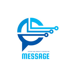 message logo template concept vector image