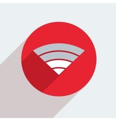 mosern flat wifi circle icon vector image
