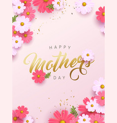 Mothers day banner background layout with vector