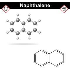 Naphthalene molecule vector image