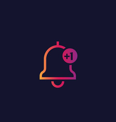 Notification icon with gradient vector