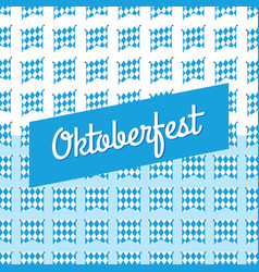 oktoberfest blue background germany octoberfest vector image