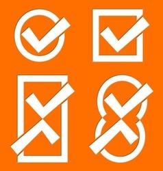 Orange tick icons vector image