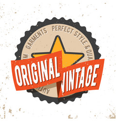 Original vintage round seal stamp vector