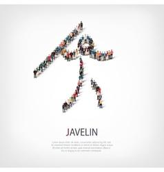people sports javelin vector image