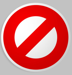 Prohibition restriction red strike-through road vector