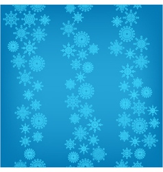 seamless background of falling snowflakes vector image