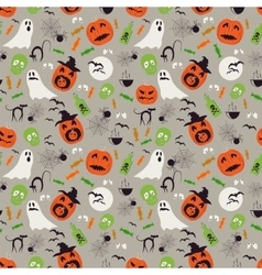 Seamless cartoon Halloween pattern Halloween vector image
