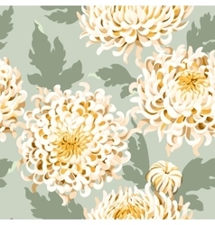 Seamless japanese chrysanthemum vector