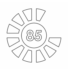 Sign 85 load icon outline style vector