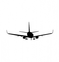 Silhouette of aircraft vector
