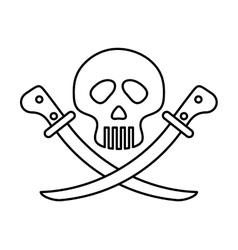 Skull icon Dead design graphic vector image