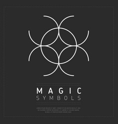 Spiritual magic symbol on gray vector