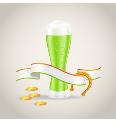 st patricks day beer 2601 vector image