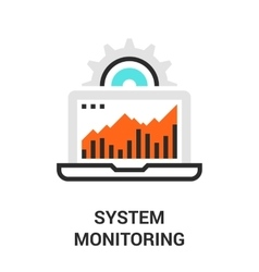 System monitoring icon vector