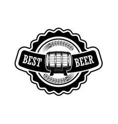 vintage beer label design elements for logo label vector image