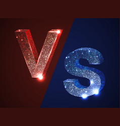 vs versus letters v s red blue logo icon vector image