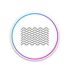 waves icon isolated on white background circle vector image
