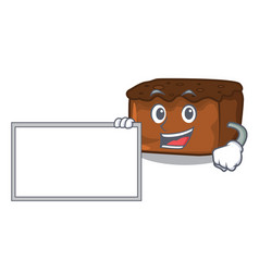 With board brownies character cartoon style vector