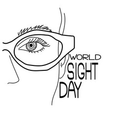 World sight day part a human face with vector