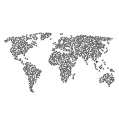 Worldwide map mosaic of sphere icons vector
