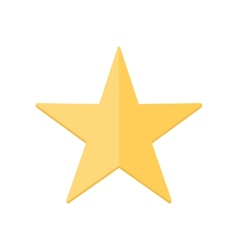 Yellow shiny star vector image