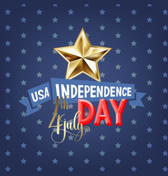 4th july usa independence day greeting card vector image