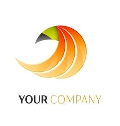 Abstract phoenix logo vector image
