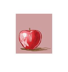 Apple cartoon vector image