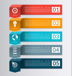 Arrow banner for business infographics vector image vector image