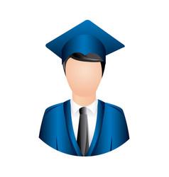 colorful man graduation icon vector image