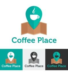 flat coffee shop or cafe logo set vector image