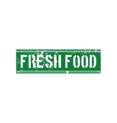 Healthy food label vector image vector image