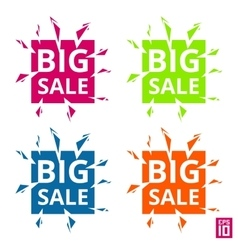 Label Big sale vector image vector image