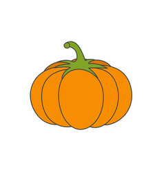 large ripe pumpkin flat icon vector image