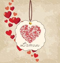 Romantic background Valentines Day vector image
