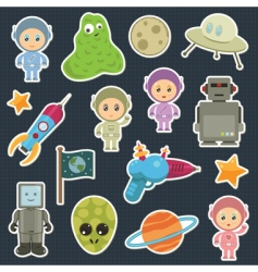 space stickers vector image