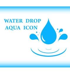Water drop aqua icon vector