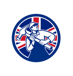british joiner union jack flag icon vector image vector image