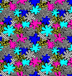 colored bright spots seamless pattern in style of vector image vector image
