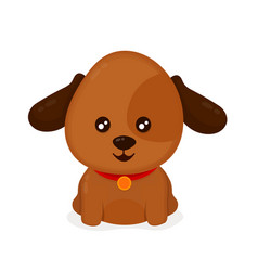 funny happy cute smiling dog puppy vector image vector image