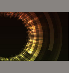orange circle digital eye abstract background vector image vector image