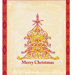 Abstract christmas tree card vector image vector image