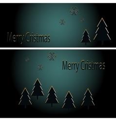 Abstract golden christmas card vector image