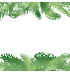 floral tropical holiday greeting background palm vector image vector image